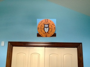 Copied the clock in to see how it would look. I like it! I hope B agrees!