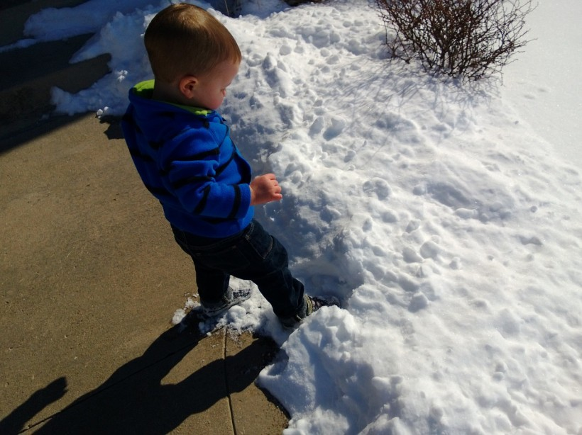 The first step into the snow before he TOOK OFF into it!