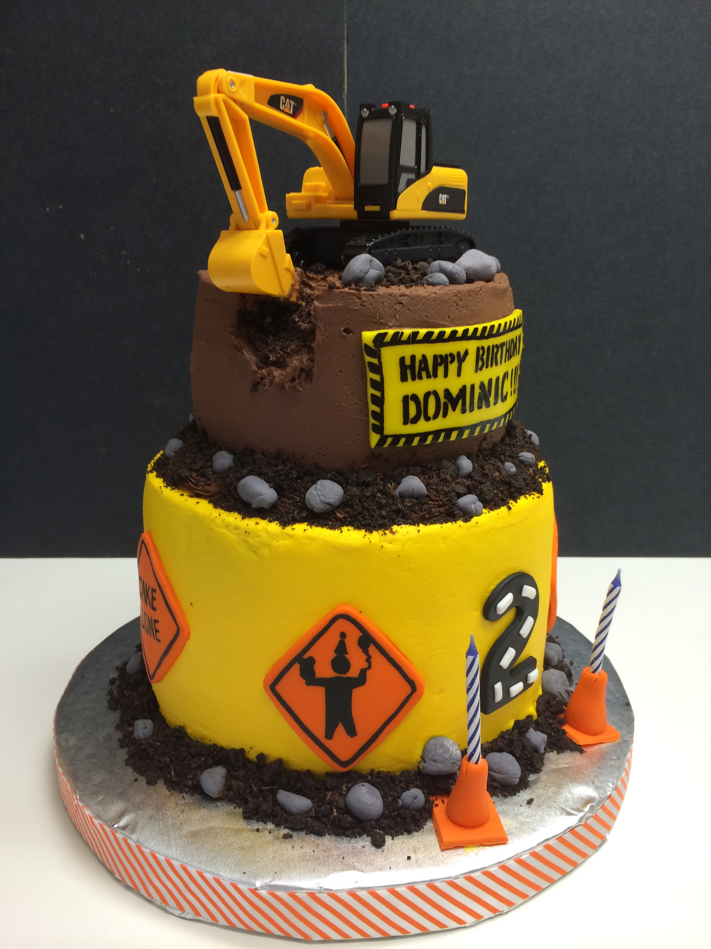 Construction Decorated Sugar Cookies Birthday Age Number