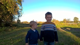 Taken by Daddy during professional family photos - Matthew wanted a photo of downtown!