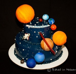 solar system cake _ Lincoln's 4th birthday _ Pinterest